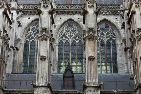 sidewall: The side-wall of the cathedral  of Saint Gatien in Tours, Loire Valley  France