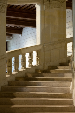 chambord: Chambord Castle, France Double helix staircase by Leonardo da Vinci