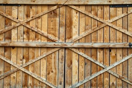 Traditional wooden door with cross