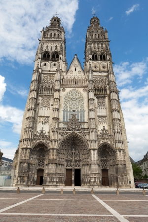 touraine: Gothic cathedral of Saint Gatien in Tours, Loire Valley  France