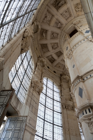 Ceiling of the staircase from castle of Chambord , France