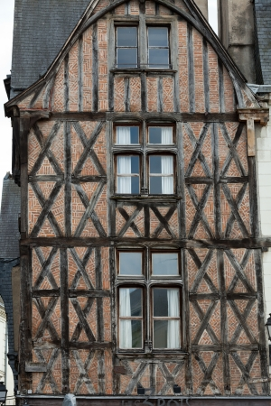 fachwerk: Half-timbered house in Tours, Loire Valley, France