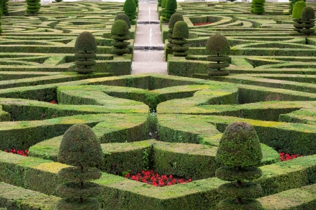 Splendid, decorative gardens at castles in France 版權商用圖片 - 23168500