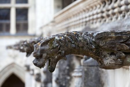 Gargouille sur la cathédrale gothique de Saint-Gatien de Tours, Vallée de la Loire France Banque d'images - 23717635