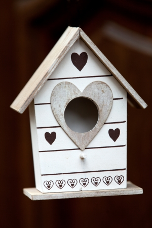 Handmade the wooden house for birds photo