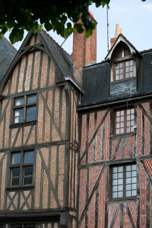 touraine: Half-timbered house in Tours, Loire Valley, France