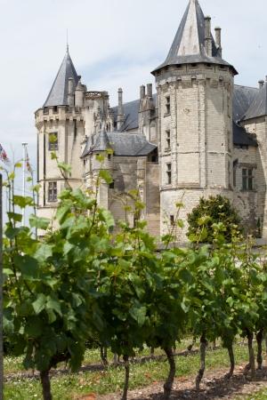 loire: Castle of Saumur in Loire Valley, France