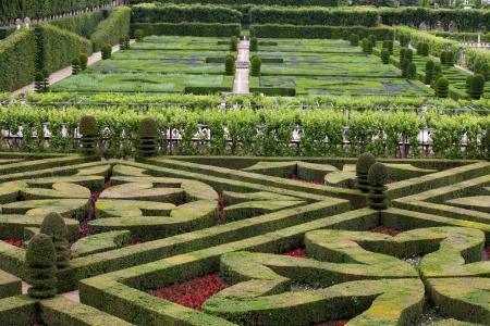 Gardens and Chateau de Villandry  in  Loire Valley in France  Archivio Fotografico