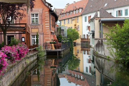 half  timbered: Half timbered houses of Colmar, Alsace, France