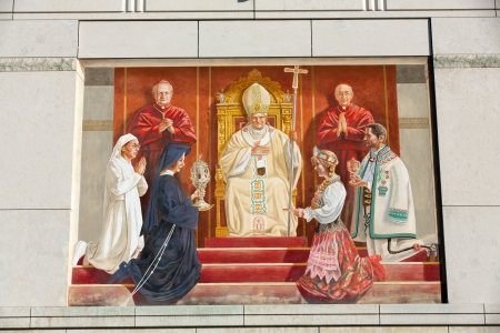 calcutta: Cracow , Lagiewniki - The centre of Pope John Paul II.