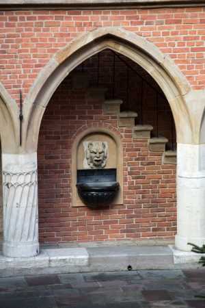 collegium: The courtyard of the collegium Maius of the Jagiellonski university in Krakow in Poland