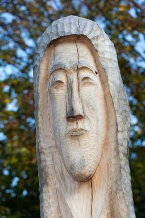 harridan: Figuras de madera como de cuento de cuentos Slawic primigenias Foto de archivo