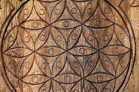 nombre d or: Fleur en bois de la vie. La fleur de vie est un symbole antique de la g�om�trie sacr�e et repr�sente l'ordre fondamental de la cr�ation.
