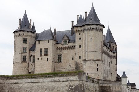 viniculture: Castle of Saumur in Loire Valley, France