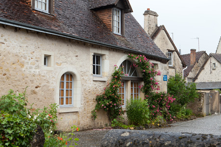 small country town: Montresor the charming small country town in the valley of Loire Editorial