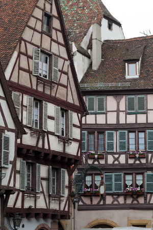 chinon: Half timbered houses of Colmar, Alsace, France