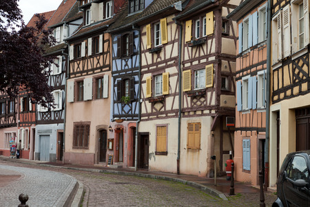 colmar: Half timbered houses of Colmar, Alsace, France