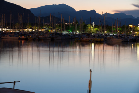 Alcudia marina at night. Majorca, Spain photo