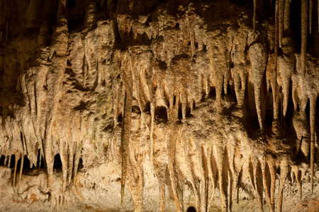 subterranean: Caves of Drach with many stalagmites and stalactites. Majorca, Spain