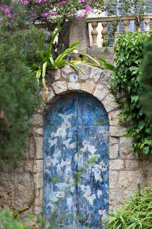 Old charming street in spanish village Valldemossa, Mallorca