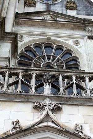 touraine: Cathedral of Saint Lousi in Blois Stock Photo