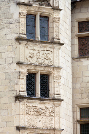 touraine: Castle of Montsoreau in Loire Valley , France