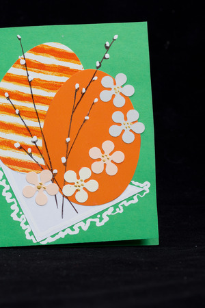 Handmade easter card photo