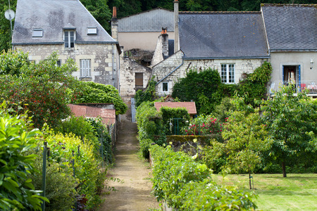 small country town: Rigny-Usse the charming small country town in the valley of Loire Stock Photo