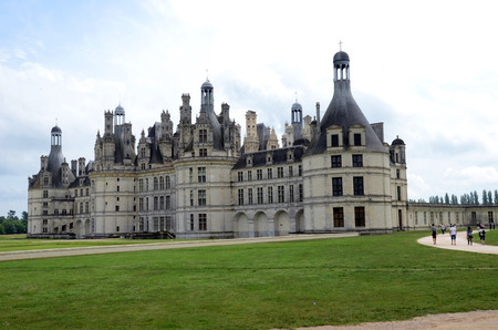 chambord: The royal Castle of Chambord in Cher Valley, France Editorial