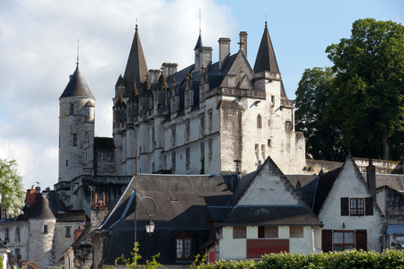touraine: Chateau de Loches in Loire Valley, France
