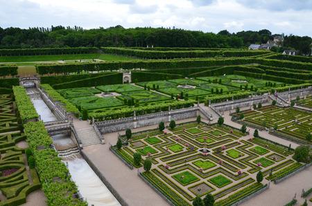 herbs de provence: Gardens and Chateau de Villandry in Loire Valley in France