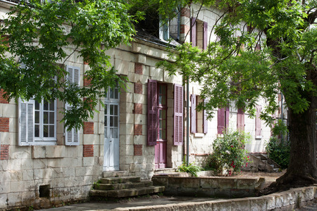 usse: Rigny-Usse the charming small country town in the valley of Loire Stock Photo