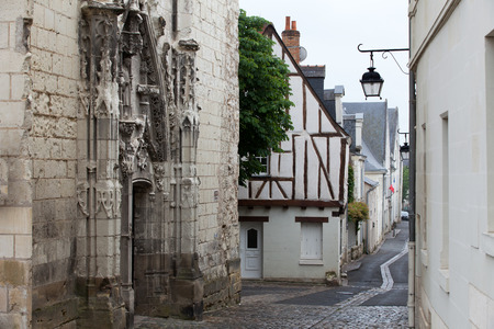 chinon: Half-timbered house in Chinon, Vienne Valley, France