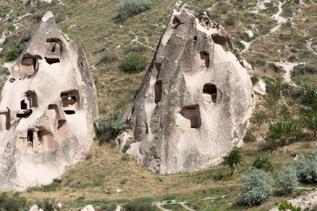 view of Uchisar castle in Cappadocia , Turkey photo