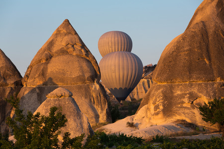 Cappadocia, Turkey.The greatest tourist attraction of Cappadocia , the flight with the balloon at sunrise photo