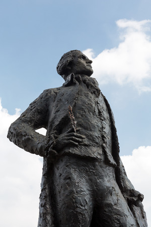founding fathers: Thomas Jefferson statue  near Museum dOrsay in Paris, France Editorial