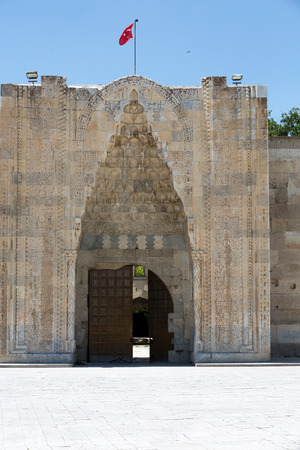 seljuk: entrance to the Sultanhani caravansary on the Silk Road, Turkey