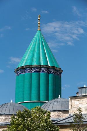 konya: Mevlana museum mosque in Konya, Turkey Stock Photo
