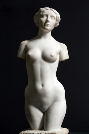 PARIS -SEPTEMBER 7, 2014: the museum DOrsay in Paris, France. Musee dOrsay has the largest collection of impressionist and post-impressionist paintings in the world.  Aphrodite of Milos