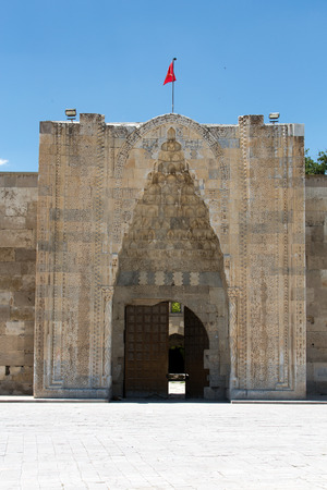 vaulting: entrance to the Sultanhani caravansary on the Silk Road, Turkey