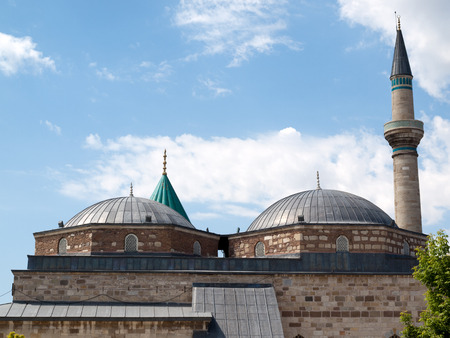 Mevlana museum mosque in Konya, Turkey