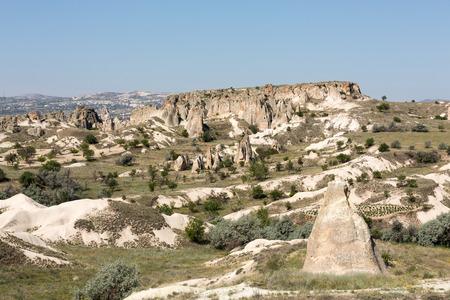 Stone formations, Fairy Chimneys in Cappadocia, Turkey photo