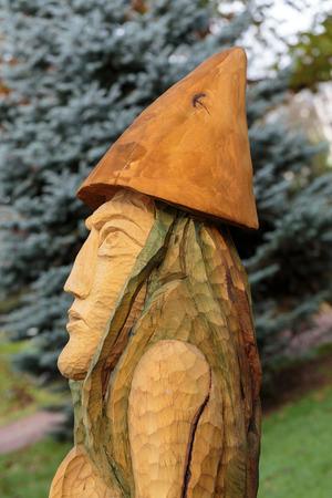 Fairy-like wooden figures from primaeval Slawic tales photo