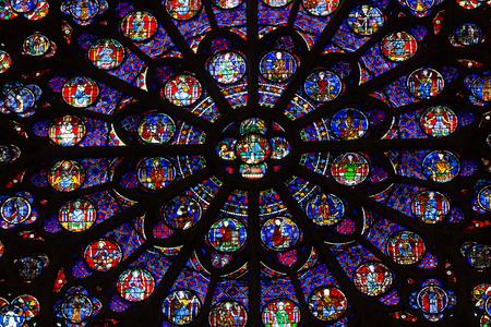 notre dame cathedral: Paris, Notre Dame Cathedral. South transept rose window. Paris, France