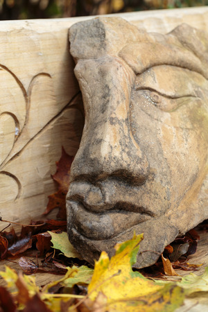 woodland sculpture: Fairy-like stone  figures from primaeval Slawic tales