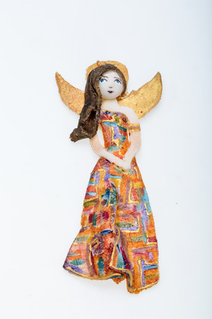 angel figurine: Beauty Angel  painted manually with acrylic paints