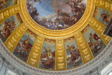 invalides: Ceiling of the Invalides in Paris, France Editorial