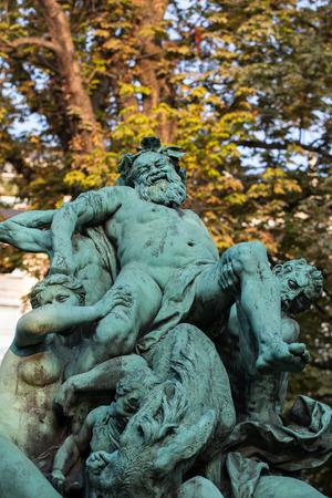 jardin de luxembourg: Paris - Luxembourg Gardens. Le Triomphe de Silene statue by Jules Dalou Editorial