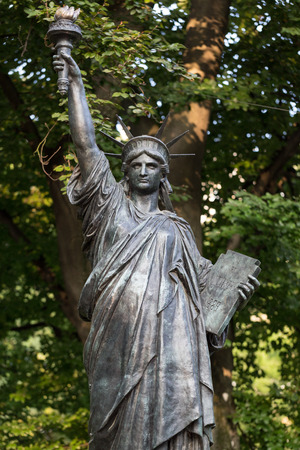 Paris - Luxembourg Gardens. Model of the Statue of Liberty