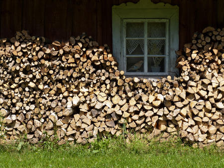 firewood at a farm photo